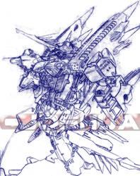 Mobile Destroyer 'Emilion' by dlredscorpion