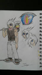 Zack as a human (medium old) by Johnsuky