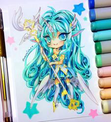 ~ Chibi Star Guardian Soraka ~ by MroczniaK