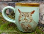 Great Horned Owl Mug by tser