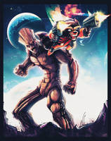 Groot and Rocket by kcspaghetti
