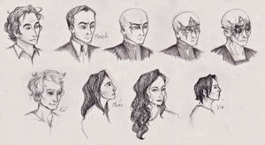 Mistborn Characters by LadyRoxanne7