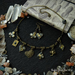 Mad Tea Party - steampunk jewelry set by IkushIkush