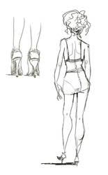 bra sketch II by zeynepozatalay
