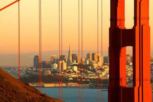 Golden Gate Morning by Qulastro