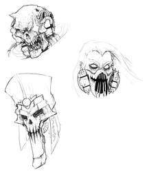 Villain Heads by ThatOldRobot