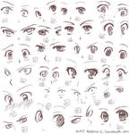 Anime eyes II by Harukarix3