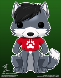 Red The Funko Pop wolftaur! by theredknight100