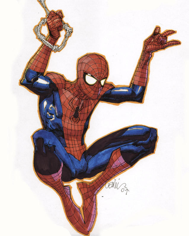 spider-man with markers by leinilyu