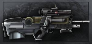 Futuristic Assault Rifle by Gasteiz