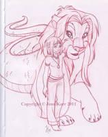 Falcor And Atreyu by Jade-Fire22