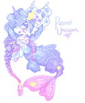 Pastel Unicorn Gempool MerMAYd (OPEN) by Faeyrie