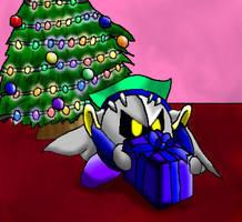 Meta Knight on Christmas by papersak