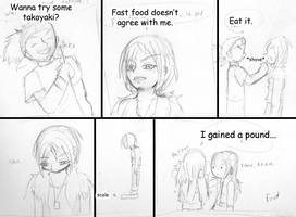 Zero and fast food by papersak