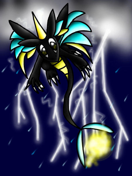Daruderno - Lightning Dragon by papersak