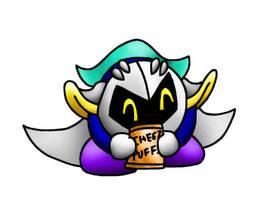 Meta Knight loves Cheez Puffs by papersak