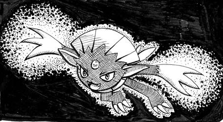 Inktober 2017 Weavile by papersak