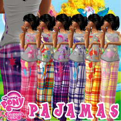 My little pony pajamas by Arya118