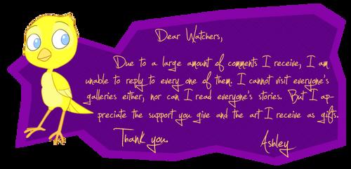 Dear Watchers 1 by KicsterAsh