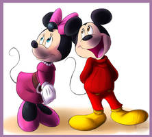 Mickey and Minnie Mouse by KicsterAsh