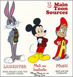 3 Main Toon Sources by KicsterAsh