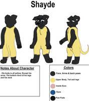 Shayde Fursuit Ref Sheet by Charlie-Breen