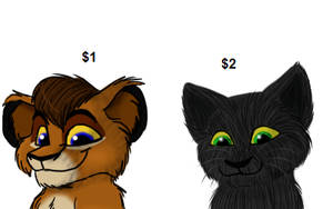 Headshot commissions by Charlie-Breen