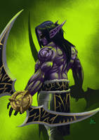 Illidan Stormrage:Demon Hunter by OldManLefty