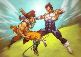 Saiyans: Goku vs. Vegeta by OldManLefty