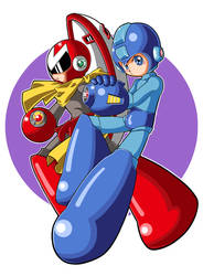 Megaman and Protoman by JusteDesserts