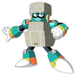Mega Man 11's Block Man by JusteDesserts