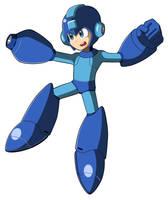 Mega Man 11's Mega Man by JusteDesserts