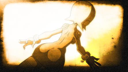 Mega Man Redux Visual Novel CG Sera Flashback 2 by JusteDesserts
