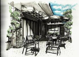 Sketchwalk - Coffee Shop, Surabaya, Jawa Timur by atmosfrozen