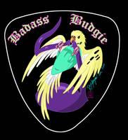 Badass Budgie guitar pick by Thagirion