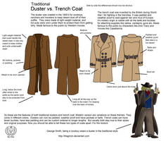 Western Duster Vs Trench Coat by Thagirion