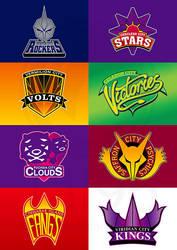 Kanto Sports Team logos by Tal96
