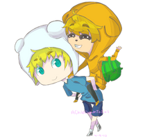 Finn and Jake by AChildDrawnToEvil