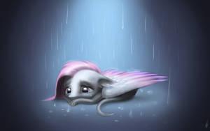 Sad Little Dragon by Draknairy