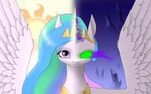 Princess Celestia: the light and the dark side by Draknairy