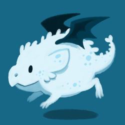Fat White Dragon by Furrama
