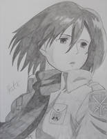 Mikasa Ackerman by HikariUtsumi