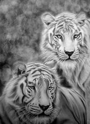 tiger white by Mariannaeva