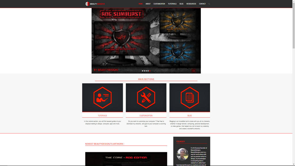 Web site Thumbails by BeautyDesignz
