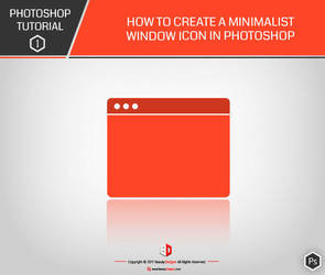 PHOTOSHOP TUTO 1 : How to create a minimalist icon by BeautyDesignz