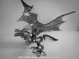 Metal Crouching Dragon by Kreatworks