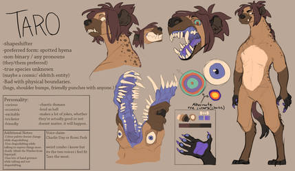 Updated Taro Reference by OkamiWolvenart