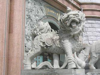 stone lion by renedox