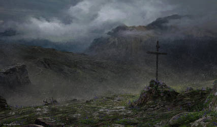 Rain on the Alps by FreeMind93