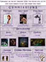 Commission Price List - SALE!!! - OPEN by KiraElusia